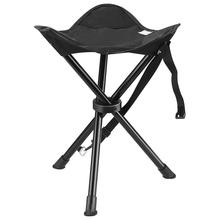 LumiParty Mini Ultralight Portable Camping Backpacking Triangular Stool Folding Chair Outdoor Activities Color Random