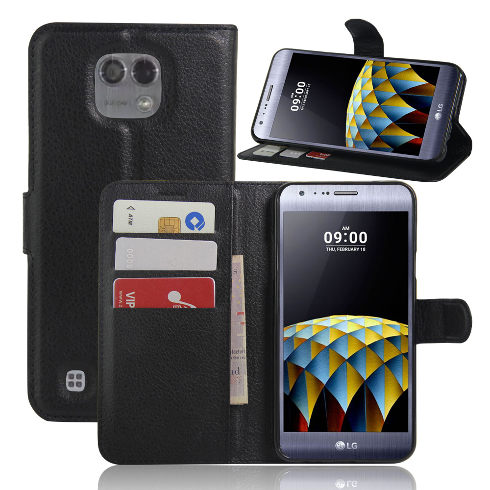K580 Luxury Wallet PU Leather Cases For LG X Cam K580 5.2 Magnetic Flip Cover Fundas Holder Card Slot Stand Mobile Phone Bags