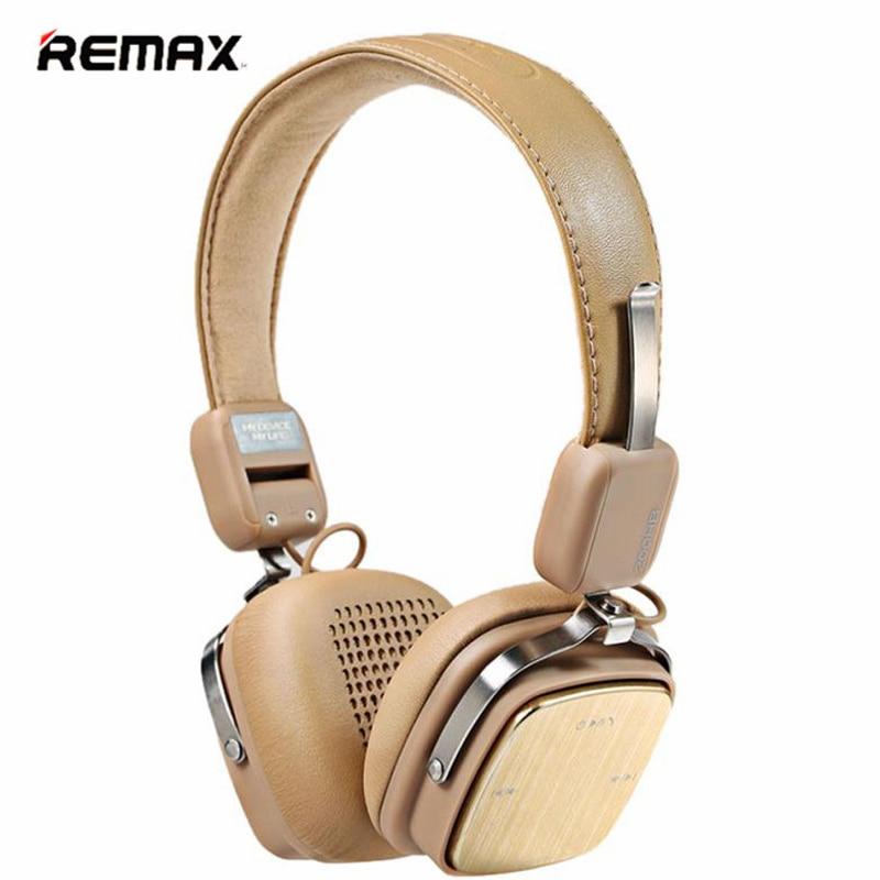 ФОТО REMAX Bluetooth Hesdphones Headset Adjustable Soft Leather AUX Wireless Bluetooth 4.1 Headphone  PK Mashall headphones
