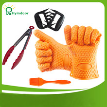 Barbecue Sets BBQ /Cooking Gloves Meat Shredder Silicone bristles 4 in 1 BBQ Tools