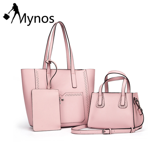 Mynos Women Composite Bags Brand Designer Women Leather Shoulder Bags  Female Handbags Candy Color Crossbody Bag for Women Sac. Price  876c6208faba1
