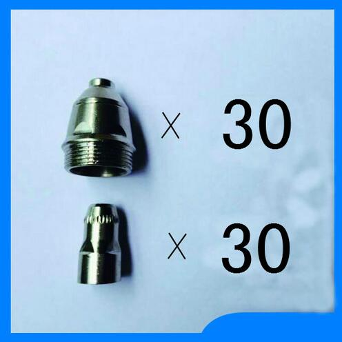 free shipping P80 Panasonic Air Plasma Cutting Cutter Torch Consumables,Plasma Nozzles, Plasma TIPS Electrode 60PK quality assurance panasonic air plasma cutting accessories reasonable price tips plasma electrodes