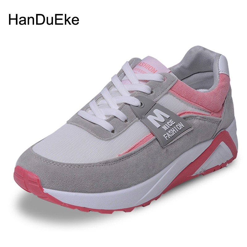2018 Spring New Women Shoes Mesh Breathable Sneaker Thick Soles Comfortable Soft Casual Shoes Heighten Woman Shoes Large Size 42