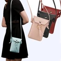 Girl Female Women Microfiber Leather Shoulder Bag Small Backpack Phone Case Cover For Asus Zenfone 4