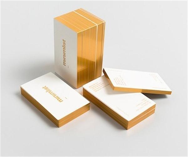 Gold edge business card arts arts 600gsm white card edge gilding custom gold foil business cards reheart Gallery