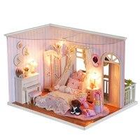 2017 Reale Precipitò Brinquedos Tamiya Per Creativo Fai Da Te Casa di Bambola In Miniatura Miei Ricordi Assemblati A Mano Per Inviare Compleanno