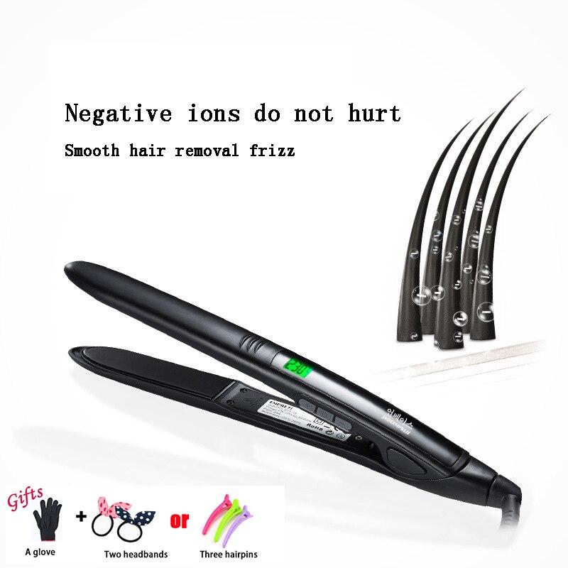 2in 1 Hair Curling Iron LCD Display Temperature Curler/straightner 100-24V Hair Straightning Styler Tool Hair Salon ToolingA17