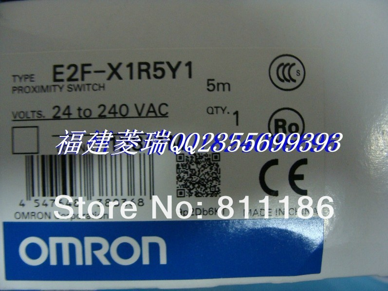 5pcs/lot  proximity switch E2F-X1R5Y1 2M  is brand new and original ,in stock 5pcs lot eh 308s proximity switch is new and original in stock