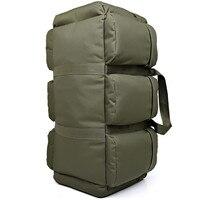90L Large Capacity Men's Military Tactical Backpack Waterproof Oxford Hiking Camping Backpacks Wear resisting Travel Bag