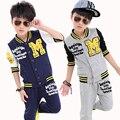 Ropa de entrenamiento ropa deportiva de bádminton de fútbol para los niños brasileños chándales de los muchachos niño ropa de sport chándal de fútbol infantil