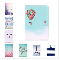 Painting Cover Silicon Leather Case For Apple IPad Mini 1 2 3 Flip Book Style Stand