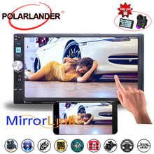 2DIN 7 Inch MP5 Player Mirror Link Screen Stereo Car Radio With Camera FM USB TF Touch Screen Bluetooth Mirror For Android Phone цены онлайн