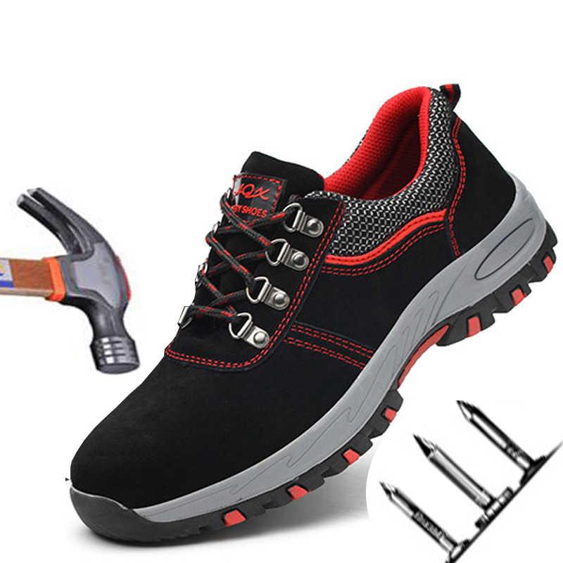 Anti-mijt Punctie Vier Seizoenen Wandelschoenen antislip Slijtvaste Veiligheid Schoenen Lichtgewicht Ademend Beschermende Werk schoenen