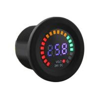 Professional Black 24 V DC LED Digital Display Auto Car Motorcycle Voltmeter Metro Waterproof Voltmeter Socket