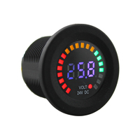Professional Black 24 V DC LED Digital Display Auto Car Motorcycle Voltmeter Metro Waterproof Voltmeter Socket