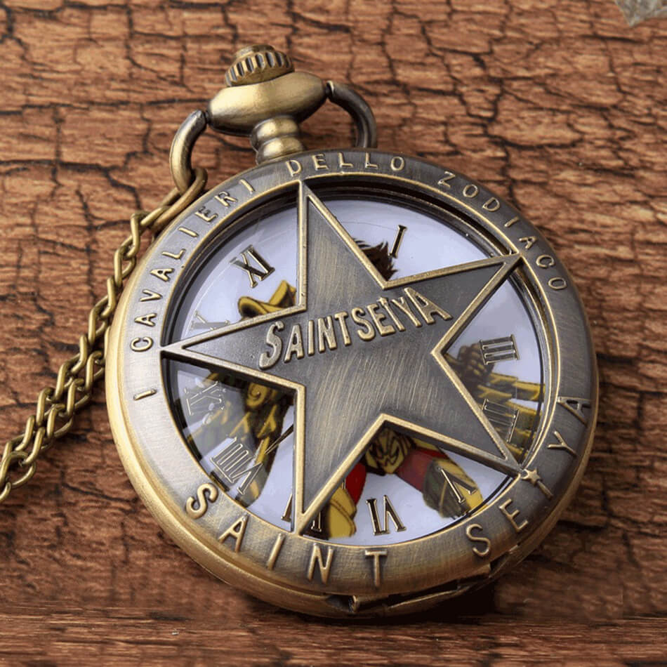 Hollow SAINT SEIYA Pocket Watch Men Chains Pendant Necklace Retro Quartz Pocket Watches Steampunk Watch Gifts Reloj De Bolsillo