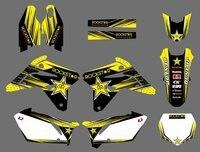 0589 Yellow Star NEW EAM DECALS GRAPHICS BACKGROUNDS STICKERS For Suzuki RMZ450 2007 RMZ 450