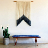 Ins Nordic wind hand woven dyed Macrame Hanging cotton tapestry tarpaulin decorative painting art soft Handmade Knitting