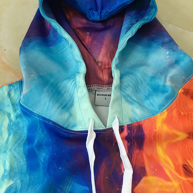 3D Hoodies Ice and Fire Wolf