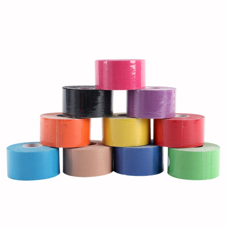 5M Sports Tape Kinesiology Tape Cotton Elastic Adhesive Muscle Bandage Care Physio Strain Injury Support Muscle Tape 10 Colors