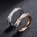 YUN RUO Rose Gold Silver Natural Shell Crystal Rings Couple Titanium Steel Fashion Jewelry Woman Birthday Gift Free Shipping