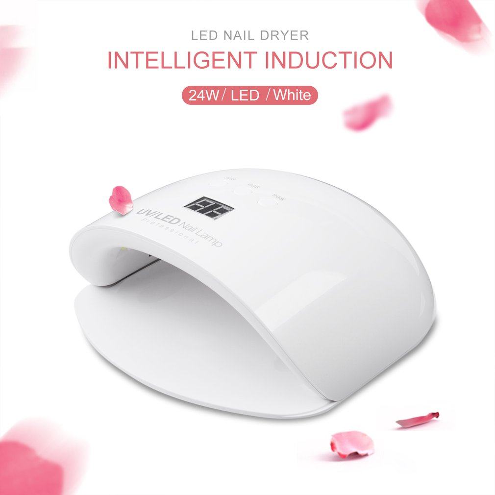 New Professional DC 12V/2A 24W UV/LED Nail Lamp Nail Dryer Unique Design Intelligent Induction Three Setting Buttons An Adapter автоинструменты new design autocom cdp 2014 2 3in1 led ds150