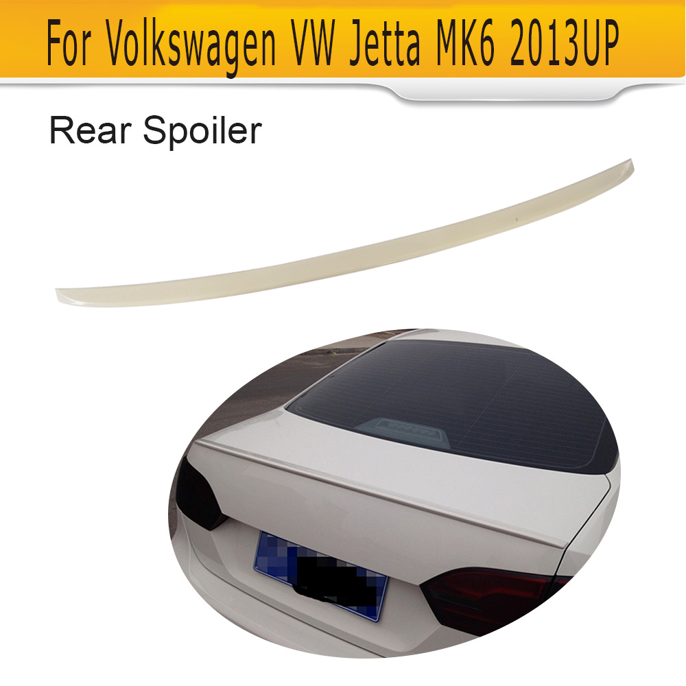 ABS Unpainted Rear Trunk Lip Spoiler Boot Wing Spoiler For VW jetta MK6 2013 UP G Style