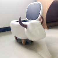 Pouf Poire Storage Stool Shoes Changing Living Room Sofa Foot Chair Cloth Package Wooden Modern Stools
