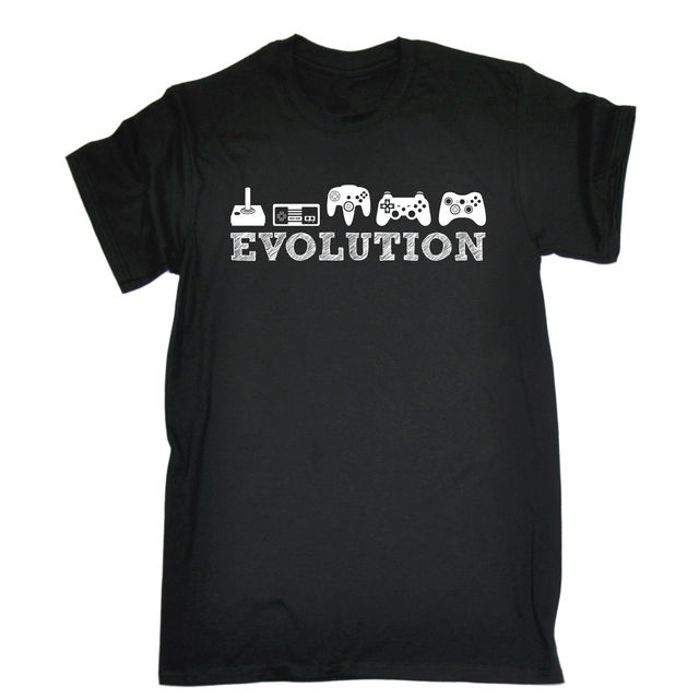 Evolution Gaming T Shirt Tee R Nerd Geek Funny Birthday Gift Present Him 100