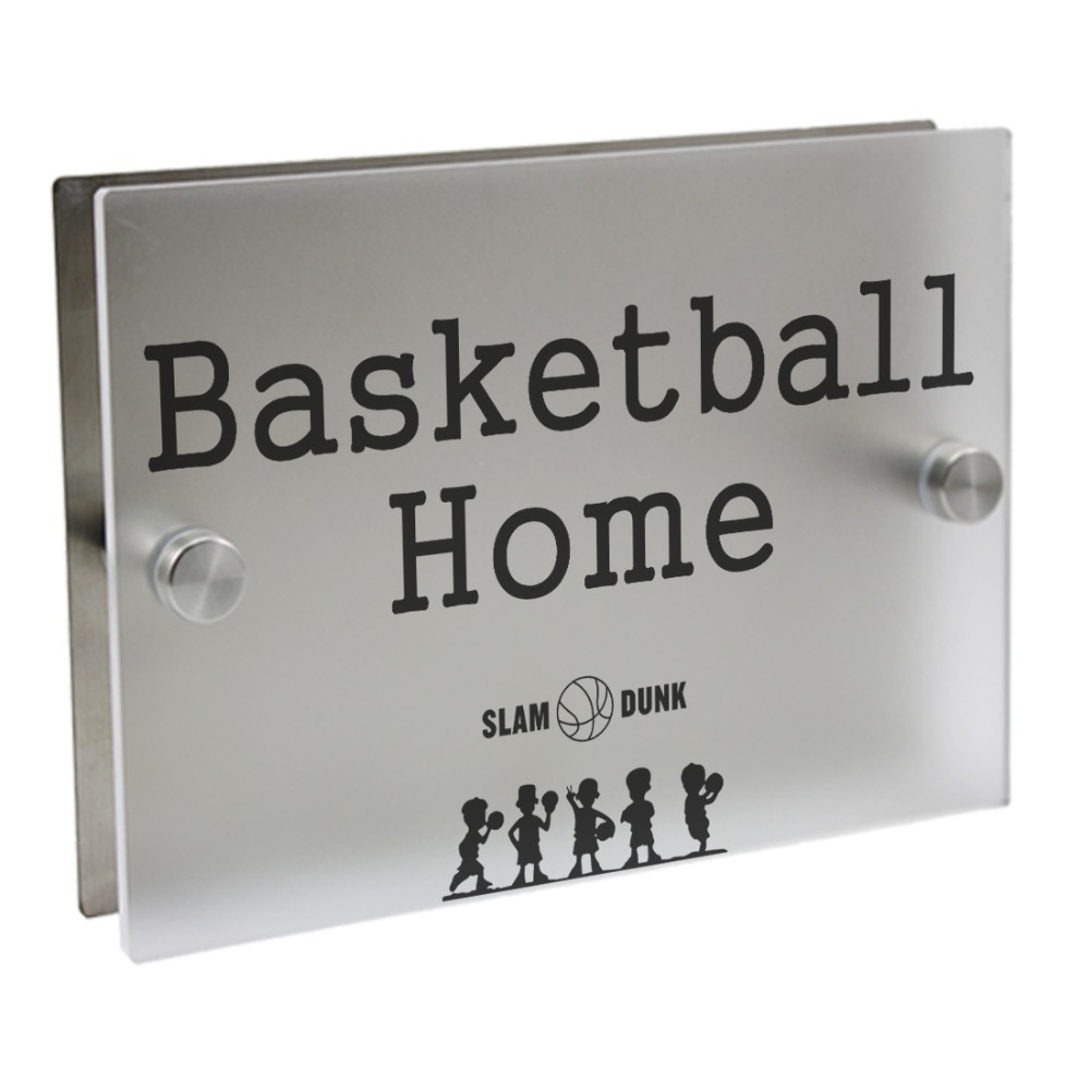 Basketball Plaques Outdoor Signs Personalized Modern House Number