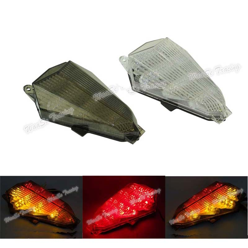 waase For Yamaha YZF R6 2006 2007 Taillight Rear Tail Light Brake Turn Signals Integrated LED Light waase for yamaha yzf r6 2006 2007 taillight rear tail light brake turn signals integrated led light