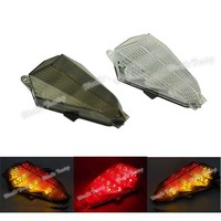 waase For Yamaha YZF R6 2006 2007 Taillight Rear Tail Light Brake Turn Signals Integrated LED Light