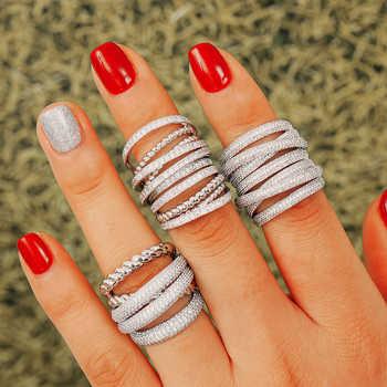 GODKI Monaco Design Luxury Twist Stacks Stackable Rings For Women Wedding Cubic Zircon Engagement Dubai Naija Bridal Finger Ring - DISCOUNT ITEM  30% OFF All Category