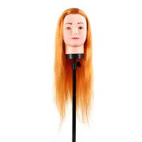 1 Pcs Hairdressing Practice Training Hairdressing Mannequin Doll Mannequin Head Long Human Hair Model With Clamp