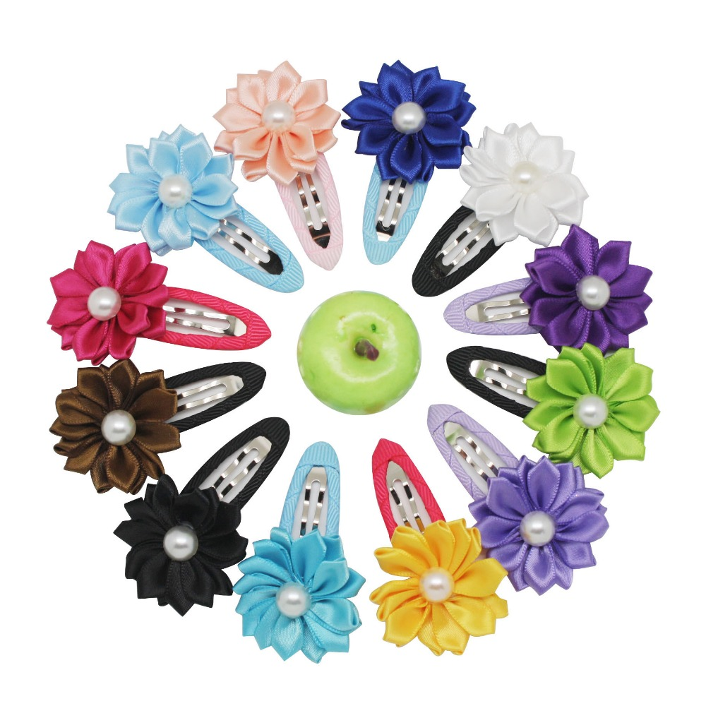 Newest Children Hair Accessories Flower Solid BB Clip Hair Clip Baby Hair Band Infant Bobby Pin Girl Hairpin headwear 8 pieces children hair clip headwear cartoon headband korea girl iron head band women child hairpin elastic accessories haar pin