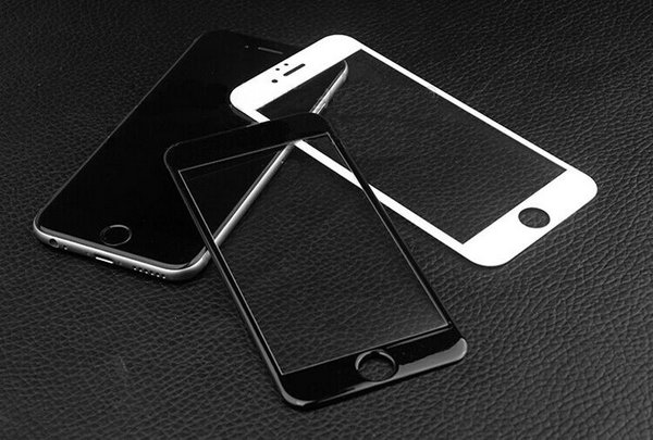 Black White Frame Full Coverage Tempered Glass Screen Protector ...