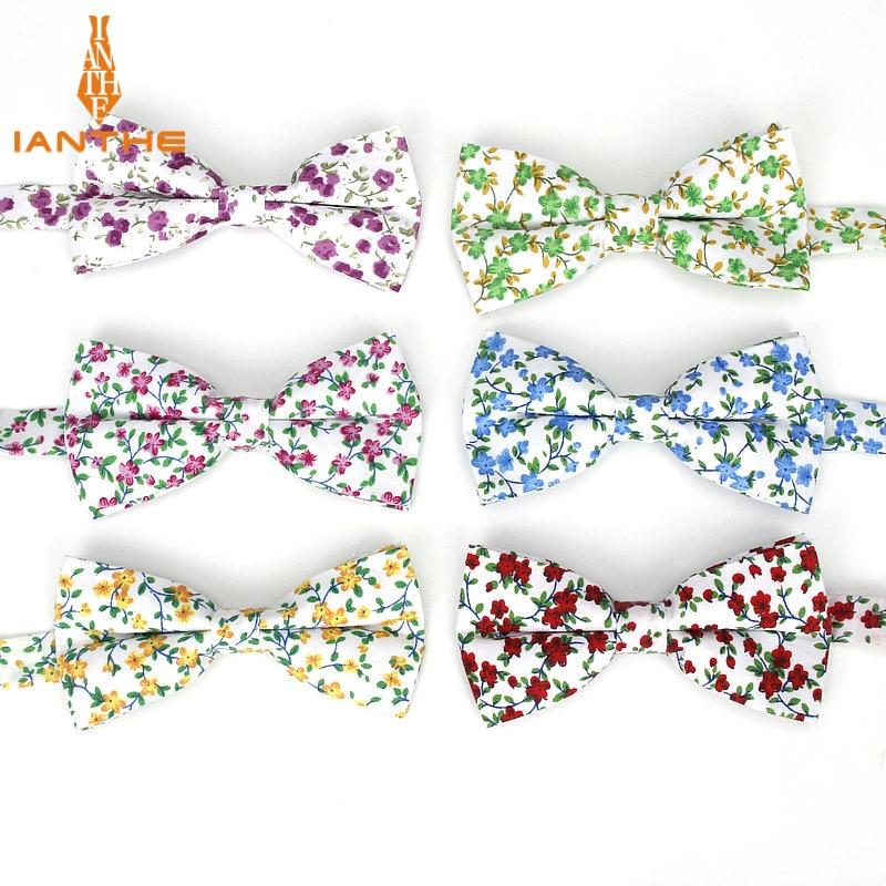 Brand New Men Fashion Flower Print Polyester Bow Tie Wedding Suit Bowtie For Man Male Neckwear Fashion Butterfly Gravata Necktie