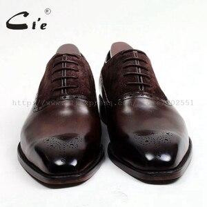 Image 3 - משלוח חינם דבק קרפט cie עור עגל עליון פנימי של הגברים outsole בנות אוקספורד צבע חום עם נעל עור זמש OX207
