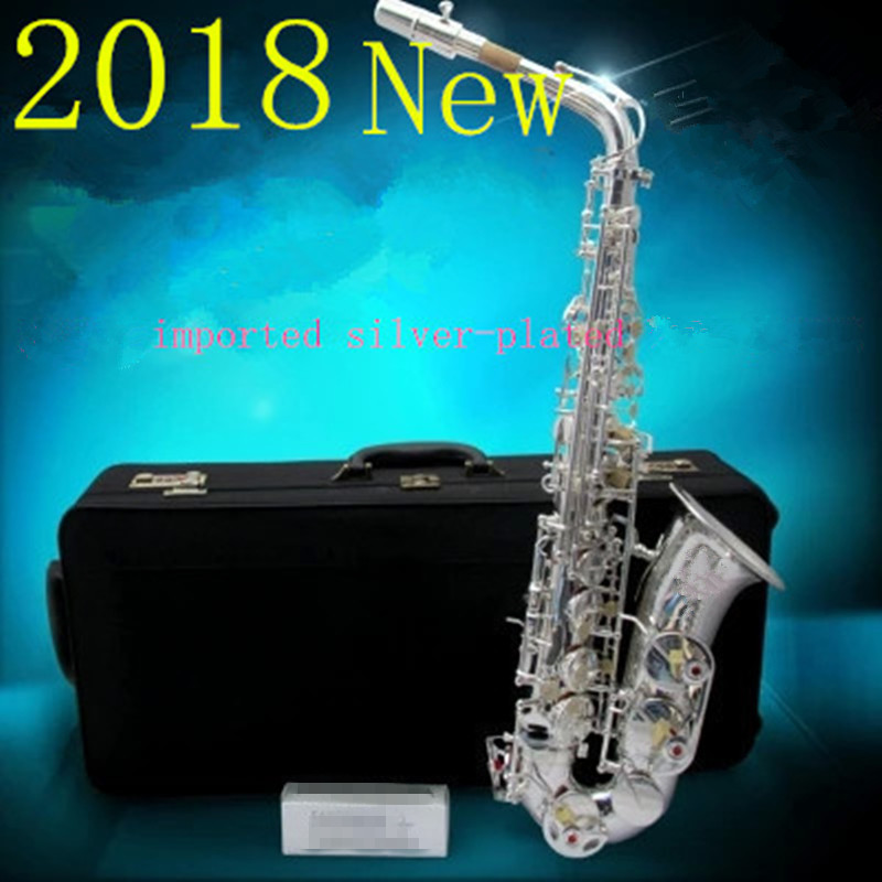 2018 Free shipping Falling Tune E high-quality Musical Instruments new A-W037 Silvering plated alto saxophone limited promotion модель машины alto autoart autoart 1 18 gtr r34 nismo r tune