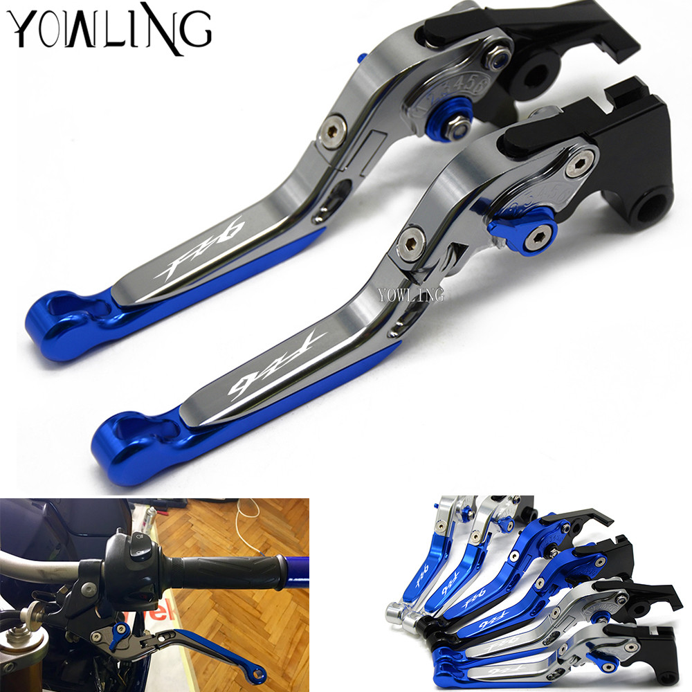 For Yamaha FZ1 FAZER FZ6R FZ8 XJ6 FZ6 MT-07 09 FZ-09 XSR700 XSR900 Motorcycle Accessories CNC Adjustable Brake Clutch Levers motorcycle adjustable cnc aluminum brakes clutch levers set motorbike brake for yamaha fz1 fazer 2006 2013 xj6 diversion 09 15
