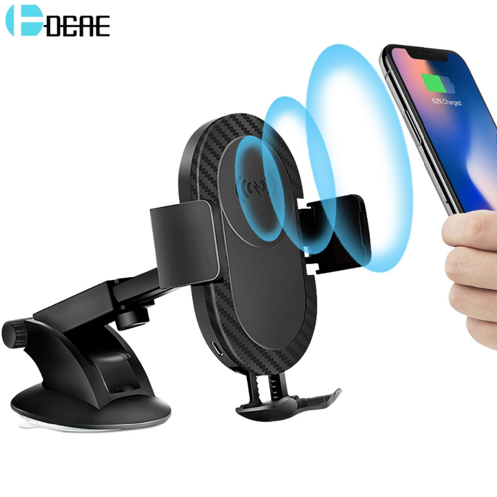 DCAE Qi Wireless Charger for iPhone XS Max X XR 8 Plus Samsung S9 S8 Note 9 8 Ca