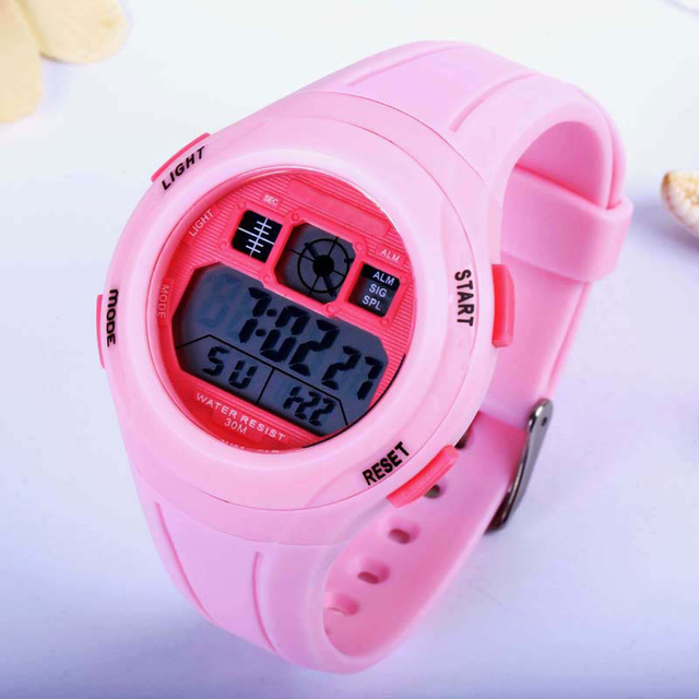 Smart Candy-colored Hot Quartz Watches Waterproof Outdoor Sports High-end Students Baby Watch Multi-function dial, alarm clock