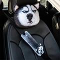 Подголовник для автомобиля  подушка для шеи с милым мультяшным животным  защита на плечо  автомобильный стиль  чехол для ремня безопасности ...