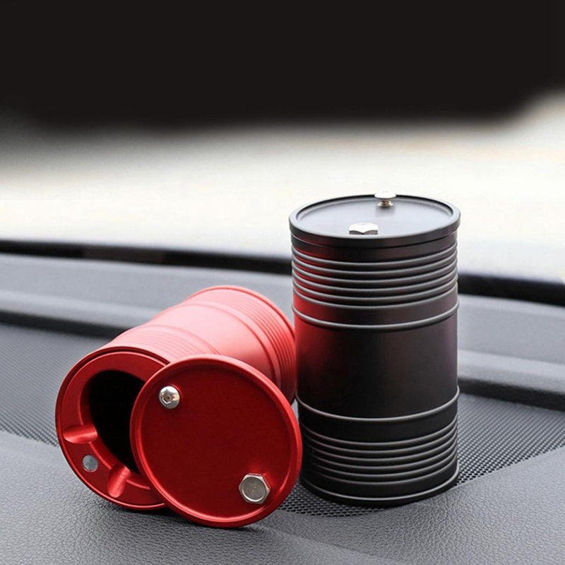 Car Metal Ashtray Portable Smokeless Can Smoke Cup Holder Auto Accessories Ash Cylinder Trash