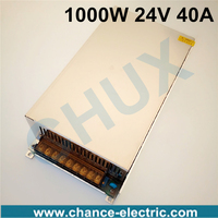 1000W 24V adjustable 40A Single Output Switching power supply AC to DC 110V or 220V