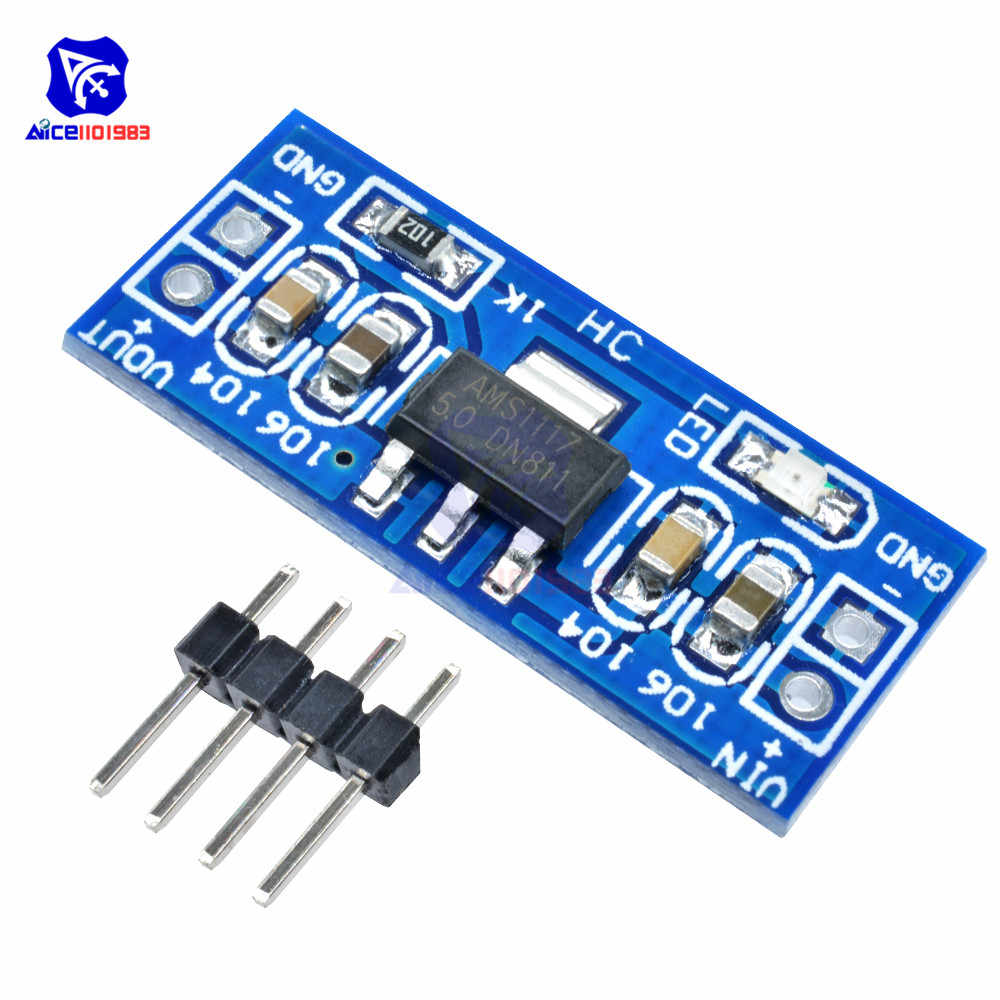 SMD AMS1117 DC-DC Bước DC Chuyển Đổi Module Nguồn DC 4.75-12 V sang 1.2 V 1.5 V 1.8 V 2.5 V 3.3 V 5.0 V cho Arduino