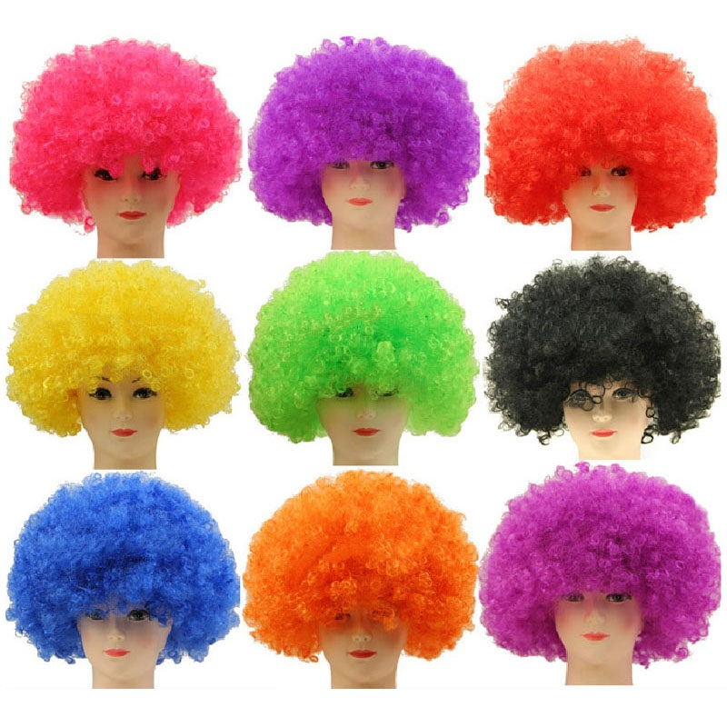 Ladies Rainbow Fancy Dress Costume Wig Glitter Festival CArnival