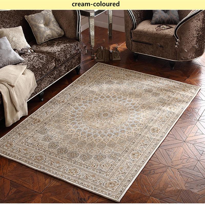 160X230 CM américain Style Country salon Table basse tapis matelas Style persan chambre chevet tapis mécanique tapis de lavage