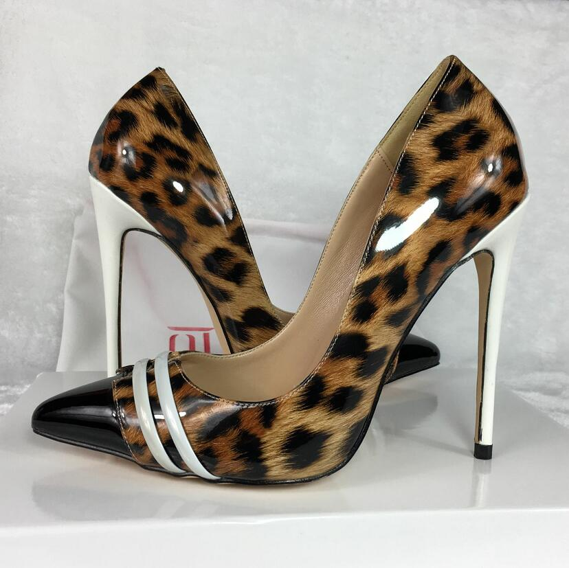In From Heels Brand Shoes Pu new High Exclusive 12cm 28 Leather S 10cm Female Women's 44Off Patent On Women Us35 We Pumps rBWdoCxe