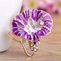 New Arrival Purple Flower Brooches Bijuteriras Fashion Women Enamel Pin Brooch Christmas Gifts Collares Gold Hijab Pins Broches